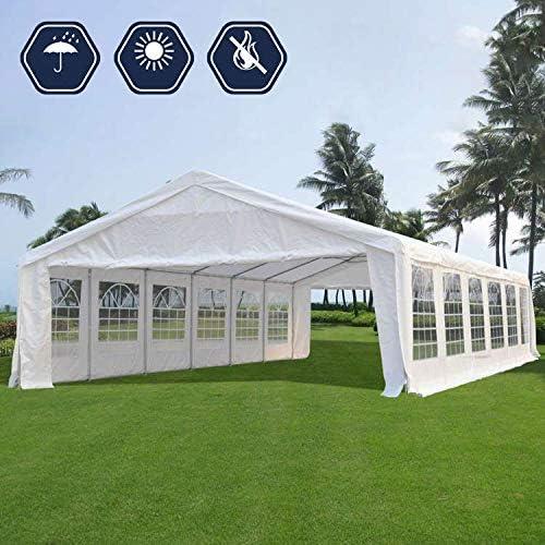 Quictent 20 x 40 Upgraded Galvanized Heavy Duty Gazebo Party Wedding Tent Canopy Carport Shelter