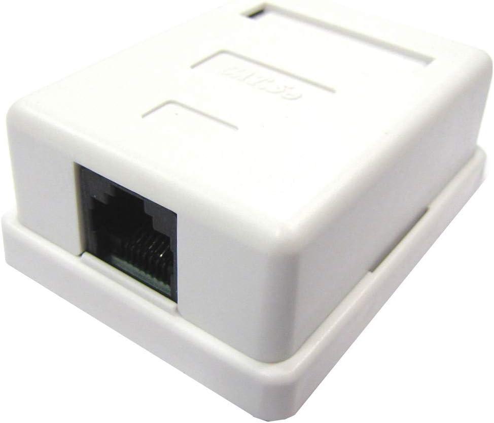BeMatik - Caja de superficie de 1 RJ45 Cat.5e UTP: Amazon.es: Electrónica