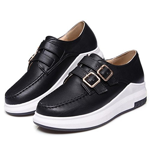 KemeKiss Casual Thick Platform Shoes Pumps 2050 Women Solo Black CCwrqga
