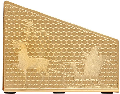 SouvNear 814614020725 Napkin Holder Golden Santa Design