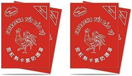 2x50ct Bundle 100 Ultra Pro SRIRACHA Deck Protectors Sleeves Red Standard Size MTG
