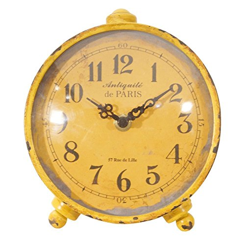 (Table Clock in Antique Yellow)