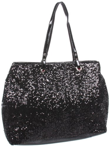 Nine West Cant Stop Shopper Editor Tote,Black/Black,One Size, Bags Central