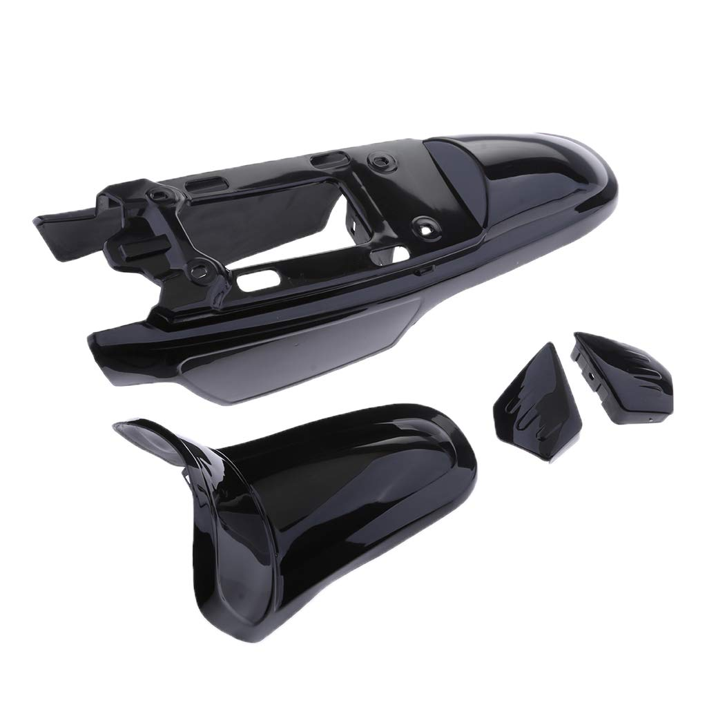 4 Colors Almencla Motorcycle ABS Fairing Body Parts For Fender Fairing Cover Kits Replace For Yamaha PW50 PY50 PEEWEE 50 Pit Dirt Bike Black