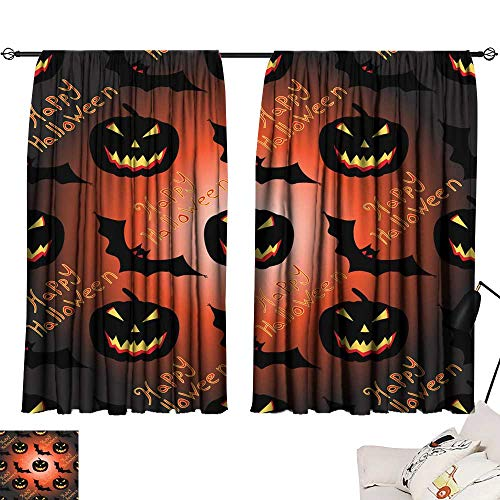 Thermal Curtains Halloween Seamless Vector Pattern Background Wallpaper 54