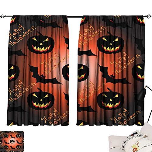 (Long Curtains Halloween Seamless Vector Pattern Background Wallpaper 63