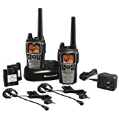 Midland GXT860VP4 42-Channel GMRS Radio Pair Pack with Drop-In Charger Rechargeable Batteries and Headsets Black