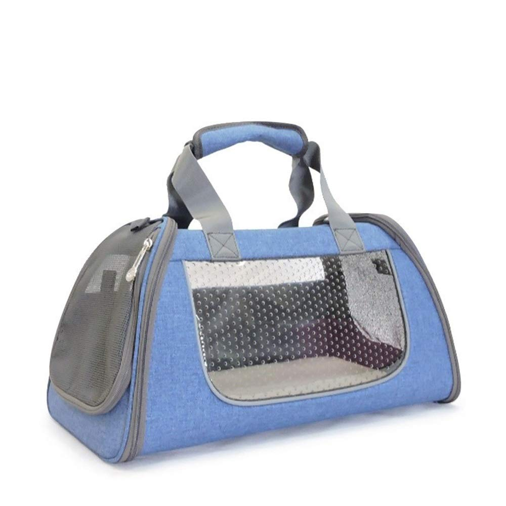 bluee US 10 bluee US 10 HEJUNF CA Outing Single Shoulder Portable Travel Bag with Portable cat cage Dog Box pet Backpack (color   bluee, Size   US 10)