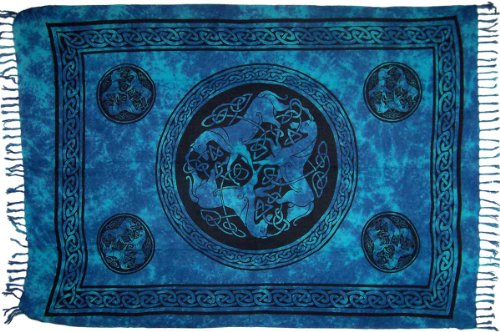 Celtic Horse Sarong (Turquoise) by Turtle Island Imports