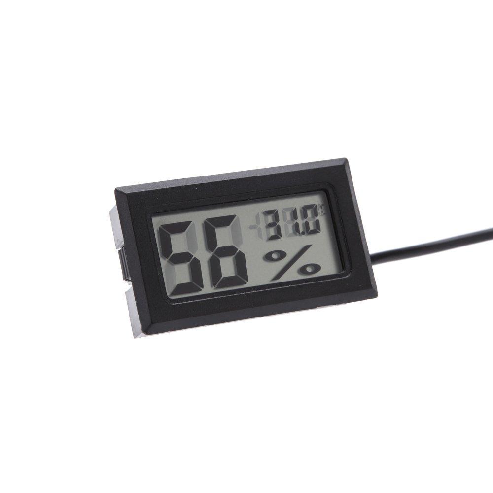 Term/ómetro Higr/ómetro con Sonda Digital Interior Exterior,Mini port/átil Medidor de Humedad Temperatura Smart LCD Pantalla