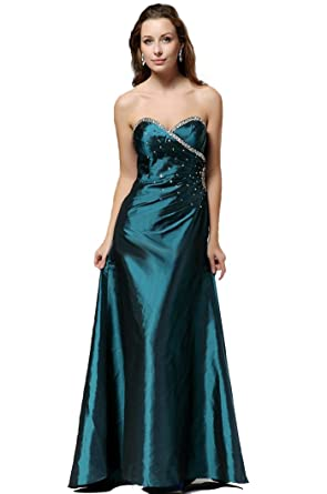 Strapless Green Beaded Evening Prom Cruise Maxi Dress Sizes 8 10 12 14 16 18 20