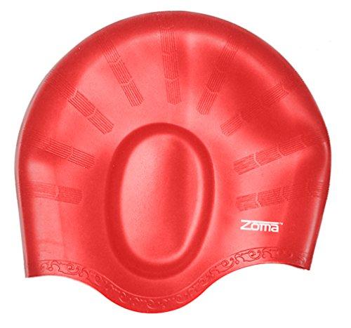 Badekappe für Herren und Damen, aus Silikon - für langes, fülliges oder kurzes Haar - mit ergonomischen Ohrentaschen zum Schutz der Ohren - aus reißfestem Silikon - haltbarer als Latex Badekappen - für Erwachsene, ältere Kinder, Mädchen und Jungen - 100% Geldzurück-Garantie