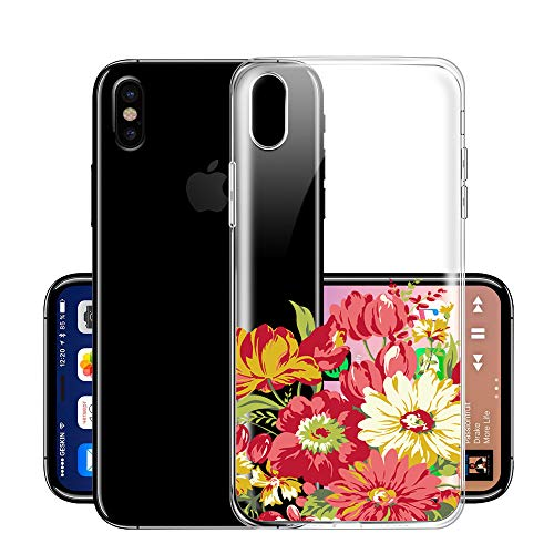 Anti Mince Bumper Anti Iphone Housse Slim Cover Ultra Pacyer Etui Tpu scratch Xs Coque Protection Max Souple Fleur Shell iphone X Flexible choc Rayure Xr 8 Anti Pour lFJ1Tc3K