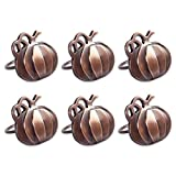 DII Set of 6 Napkin Rings, Pumpkins - Perfect for Fall, Thanksgiving, Dinner Parties or Special Occasions