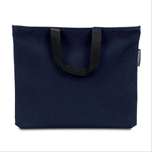 Hopkins Medical Products Lockable PHI Carrier: Letter Size Records Bag - Navy