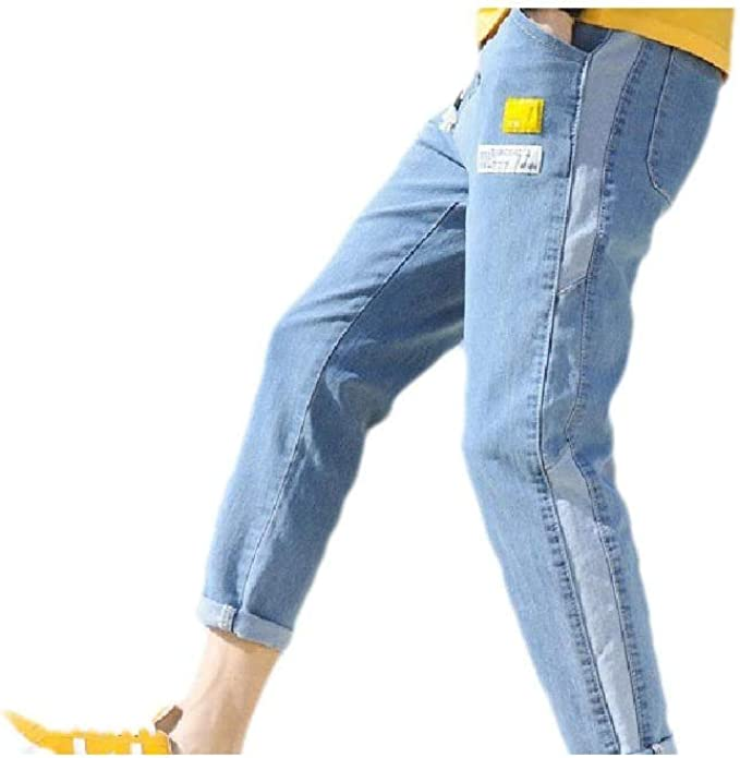 cheelot Men Skinny Breathable Distressed With Pocket Colorblock Stretch Jean