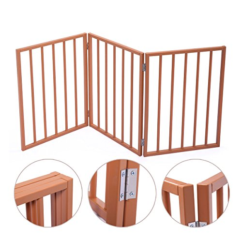 Lazymoon 175 Folding Solid Wooden Pet Dog Fence Playpen