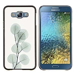 Stuss Case / Funda Carcasa protectora - Rama de las hojas del árbol Gris Art Otoño - Samsung Galaxy E7 E700