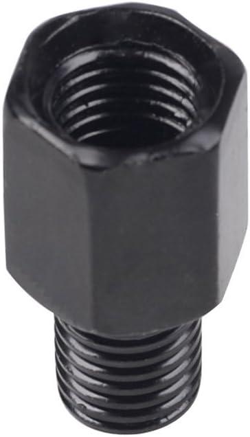 Frenshion 10mm Droite /à 6mm RH Moto R/étroviseur Invers/é Argent Adaptateur Conversion Boulons Vis dans Le Sens horaire Anti-Horaire Miroir Accessoires Pi/èces