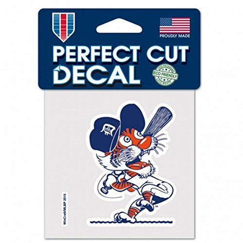 Stockdale Detroit Tigers RETRO Cooperstown Logo WC 4x4 Decal Reusable Flat Vinyl Perfect Cut Baseball