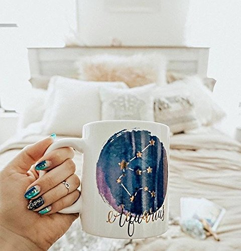 Aquarius Mug - Jumbo 22Oz Zodiac Mug Astrology Decor Constellation Mug For All Horoscopes Signs. Coffee Mugs For Women, Perfect Horoscope Gifts Mug With Quotes. Bpa Free Porcelain Mug By Ankit