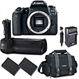 Canon EOS 77D DSLR Camera Body Only Kit with Canon 300-DG Digital Gadget Bag + Replacement 77D Battery Grip + 2 Replacement LP-E17 Batteries with A Multi Purpose Travel Charger