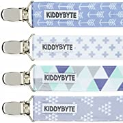 Baby Pacifier Clip Holder for Boy - 4 Pack Teething Clips for Babies, Perfect for Binky, Soothie & Stuffed Animal Toys