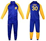 Fan Kitbag Steph Curry Kids Basketball Tracksuit All Youth Sizes ✓ Curry Basketball Track Jacket Top ✓ Kids Basketball Track Pants ✓ GIFT READY Packaging (YS 8-10 Years, Curry Tracksuit)