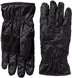 Isotoner Men's smartDRI smarTouch Packable Gloves, Black, L/XL