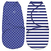 SwaddleMe Original Swaddle 2-PK (Small, Navy Stripes/Stars)