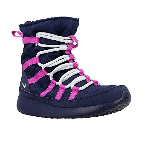 Nike Roshe One Hi GS - 807758407 - Color Navy blue-Pink - Size: 4.5 by NIKE