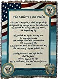 united states navy blanket - Pure Country Navy Poem Tapestry Throw Blanket, 70 x 54, Red