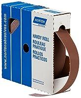Norton Abrasives 66261126266 - Uncut Sanding Roll - 600 Grit, Aluminum Oxide, 1 in Wide, 50 yd Long