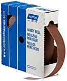 Norton Abrasives 66261126299 - Uncut Sanding Roll - P80 Grit, Aluminum Oxide, 2 in Wide, 50 yd Long