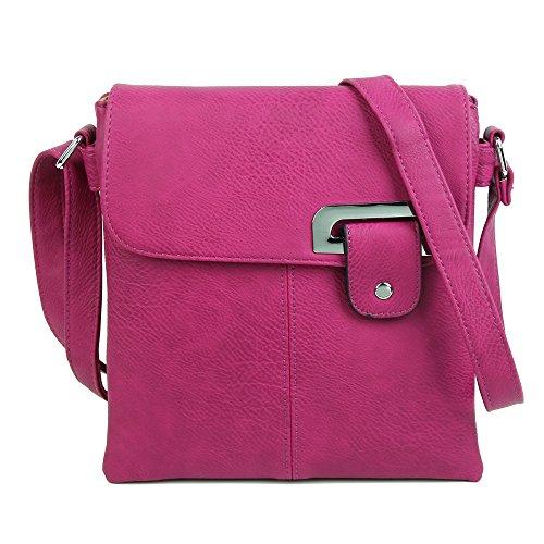 Medium Compartment Cross Multi Shoulder Pocket Womens Trendy Body Bag Purple Messenger ROxT6Swq