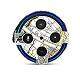 Protection Case for Amazon Echo Dot, FastSnail Premium Vegan Leather Cover Sleeve Skin for Amazon Echo Dot(Fits Echo Dot 2nd Generation only) Map