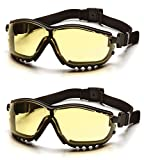 Pyramex V2G Safety Glasses (Amber Anti-Fog Lens GB1830ST) (2 Pair)