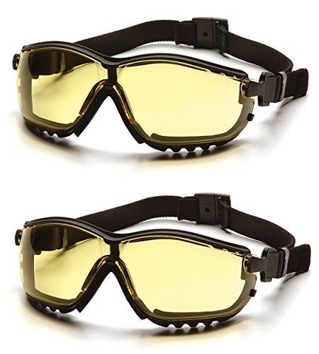 Pyramex V2G Safety Glasses (Amber Anti-Fog Lens GB1830ST) (2 Pair) by Pyramex Safety