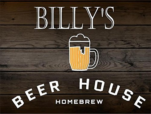 (BILLY Beer House Home Brew bar man cave décor sign 7