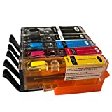 5PK(BK/PBK/C/M/Y) refillable edible ink cartridges PGI-250 CLI-251 PGI250 XL for PIXMA MG5420/MG5422/MG5520/MG6320/MG6420/MG7120/IP7220/MX722/MX922 for DIY cake food with ARC Chip
