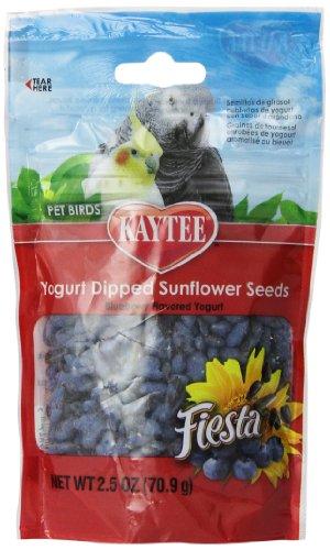 Kaytee Pet Products BKT100502767 Fiesta Yogurt Dipped Sunflower Seed Avian Bird Treat, 2.5-Ounce, Blueberry Flavor