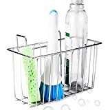 ACEEN Kitchen Sink Sponge Holder, 304 Stainless Steel Sink Caddy Organizer, Liquid Drainer Storage Basket for Sponge, Soap, Brush, Dishwashing Accessories