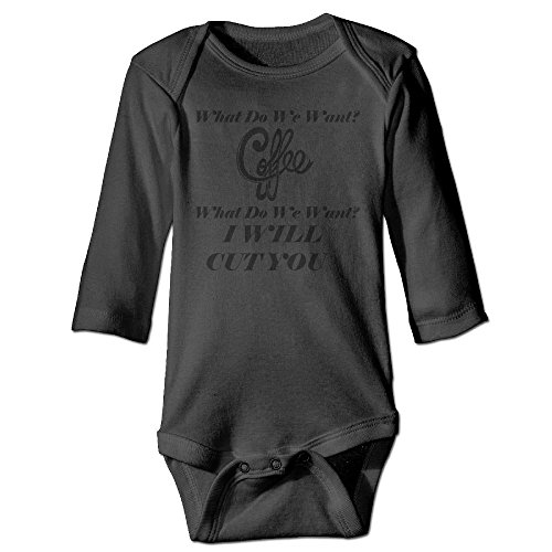 Price comparison product image PFL STORE Baby Climbing Clothing Long Sleeved What Do We Want Coffee Unisex Baby Clothes