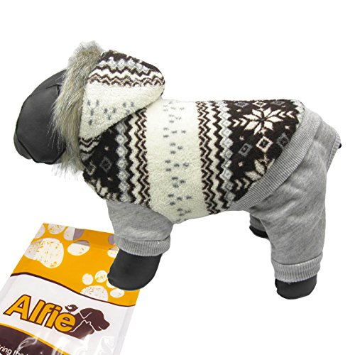 [Alfie Pet by Petoga Couture - Nova Hooded Jumper - Color: Grey, Size: Large] (Costumes Starting With L)