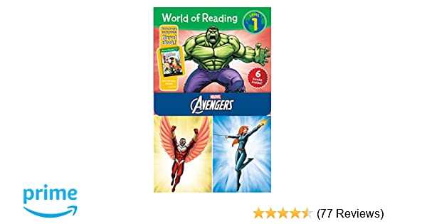 Amazon com: World of Reading Avengers Boxed Set: Level 1