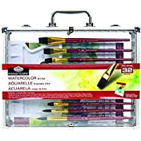 Royal & Langnickel Large Window Watercolor Painting Tin, 32 Pieces