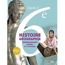 Histoire Géographie EMC 6e 2016 Grand format livre de l'élève
