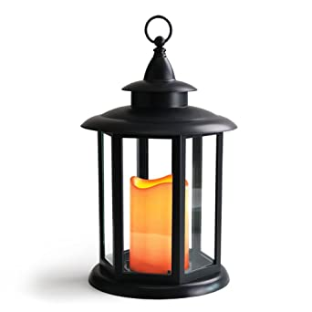 BRIGHT ZEAL IP44 Waterproof Hexagon Candle Lantern with LED ...