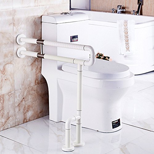 MDRW-Safety Handrail Toilet Nylon Barrier Free Folding Armrest Toilet For Toilet Hand Over Handle 600650Mm by Olici