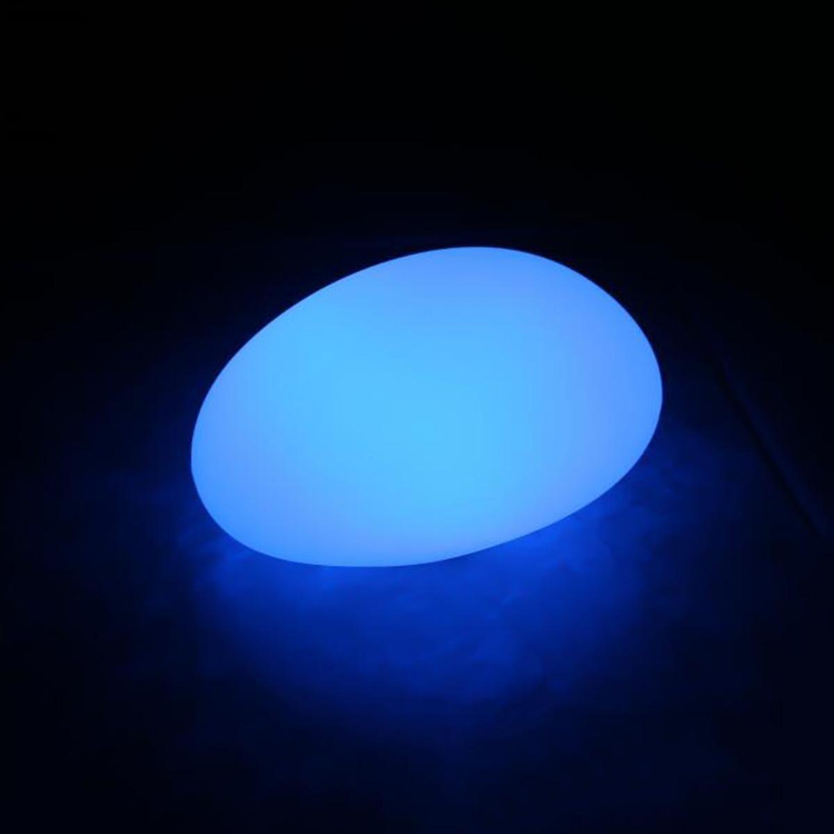 Augrous LED Pietra Lampada 16 colore Mutevole Lampada da terra con Telecomando Impermeabile ricaricabile per Giardino Prato Decorazione (dimensioni   3226H18cm)
